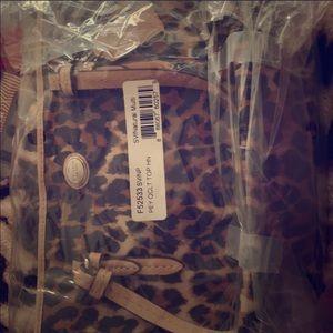 Small coach leopard/cheetah handbag
